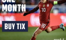 One Month Countdown to 2018 SheBelieves Cup in Harrison on March 4
