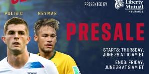PRESALE! USA vs. BRAZIL